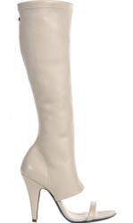 Patrizia Pepe Open Toe Boots White