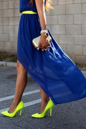 Fluo gele schoenen